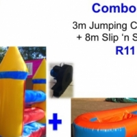 Combo Special 1: 3m Jumping Castle + 8m Slip 'n slide with Blowers & Cary bags
