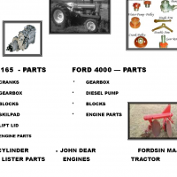TRACTOR PARTS, LISTERS ETC