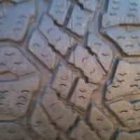 Get it second hand and excellent condition 19'' Goodyear Wrangler Duratrac tyres.