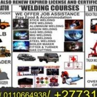 0731582436  Conatiner handler, TLB,Grader &welding Courses  South Africa, Upington, Bloemfontein
