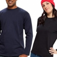 Unisex adult long sleeve shirts with full colour pocket print