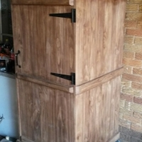 Refrigerator Cover Farmhouse series 1820 Mobile - Two tone