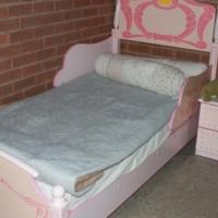 PRINCESS BED & SIDE DRESSER