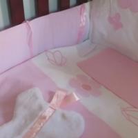 Pink Gingham Nursery Set, 6 piece