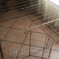 Flat folding Pet Playpen with top cover and gate 120cm (l) x 120cm (w) x 60cm (h)
