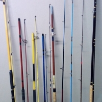 Fishing Rods X 9 Assorted