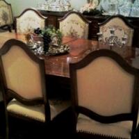 Rhodesian Teak Hand Made 16 Piece Dinning Room Set