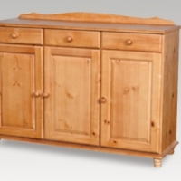 3 door and 3 drawer sideboard in oak finish