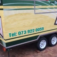 Fastfood and/or catering trailers for sale. Built