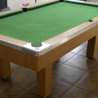 Pool Table with balls for sale.