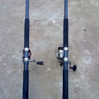 Fishing Rods and reels in very good condition for sale!!!