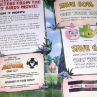 Angry Birds complete sticker pamphlet