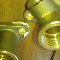 Brass elbow fitting 15mm