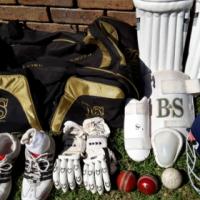 Full Cricket Kit With B & S Custom Made Bat, Clothing, Kit Bag