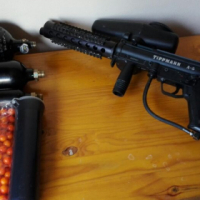 Two paintball guns and gear for sale