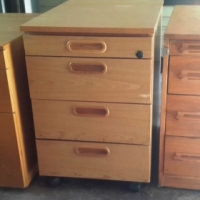 Desk, cabinets, notice boards, year planner etc