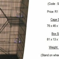 Cages for parrots and small animals