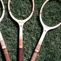 Collectable classic tennis racquets, at giveaway prices