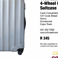 Yves Saint Clair 4-Wheel Clamshell Suitcase