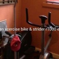 Trojan xcercise bike & strider for sale.
