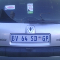 Renault Clio 1.4 2006 Model, 5Doors, Factory A/C, C/D Player, Central Locking, Silver in Color, 8900