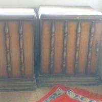 x2 antique bedside tables
