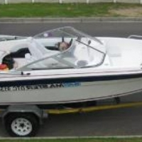 2008 Bay Master Boat with Trailer and Accessories