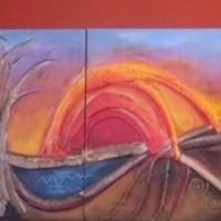 Miq Miles and Lourain Fieldgate Paintings (x4) Make an offer all will be considered (R 5 000 each)