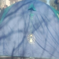Coleman 5 man dome tent.