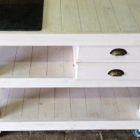 Butchers Block Farmhouse series 1200 with drawers - White washed