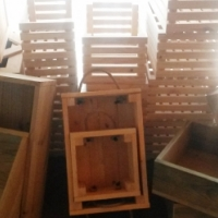 Wooden slated crate