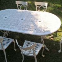 Aluminium garden furniture set