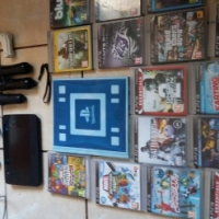 Playstation 3 500g console ,16 games and extras