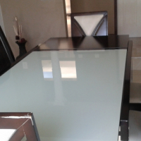 BEAUTIFUL GLASS TOP DINING TABLE ONLY