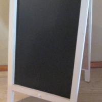 Chalkboards - Blackboards: A-frame, double sided. Wooden frame.
