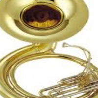 Sousaphone with case