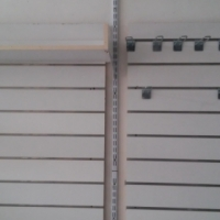 2 x wall display panels with 2 shelves