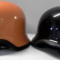 Black and/or orange bike helmet