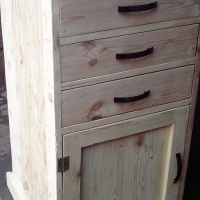 Self Decorating Tower Cabinet with 3 Drawers (595x540x1030)