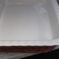 white snack plate with wooden cover