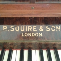 Antique upright Piano B. Squire &Son (London) Piano & YAMAHA electric organ for sale