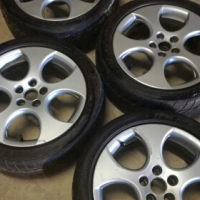 """OEM 16"""" VW Polo GTI rims and tyres"""