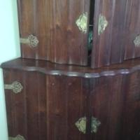 Imbuia Corner Liquor Cabinet (reduced)