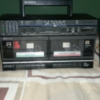 Sony radio double cassette player
