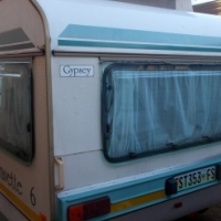 gypsey caravette 6 with full tent and rally tent