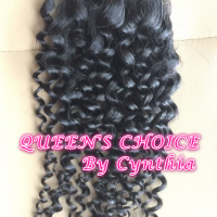 "QUEEN'S CHOICE 7A+ BRAZILIAN/PERUVIAN 4""x4"" LACE CLOSURE"