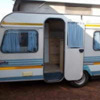 sprite super sport with rally tent with sides and big fridge and freezer