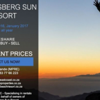DRAKENSBERG SUN RESORT - APRIL & JULY 2018 & ALL YEAR- CHALET & APARTMENT RENTALS