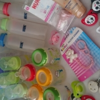 NUK COMPLETE SET WITH BRAND NEW BREAST PUMP