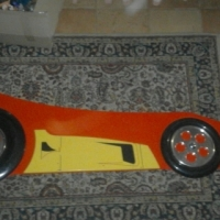 Kid's Ferrari Bed and two bedside tables